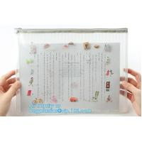 China Document Bag with Zipper Storage Holder for Papers Stationery Student Gift, Customized stand up zipper plastic bag on sale