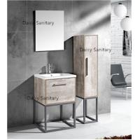 Quality Modern MDF Bathroom Vanity Classic Waterproof Design With Side Cabinet wholesale