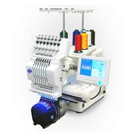 Quality Commercial Single Head Computer Embroidery Machine For Cap / T - Shirt / Flat Embroidery wholesale
