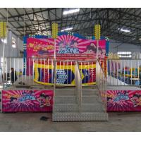 Quality Theme Parks Breakdance Amusement Ride Mini Tagada Disco 9.5kw Power 8p Capacity wholesale