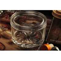 Cheap Personalised Empty Clear Glass Candle Jars With Lids , ASTM Test for sale
