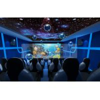 Quality Entertainment 5d Mobile Cinema Motion Chairs With Snow , Bubble , Lightning Machine wholesale