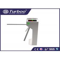 Cheap RFID Vertical Tripod Access Control Turnstile Gate Intelligent 3 Arm With Sensor for sale