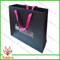 Quality Customized Luxury Brown Kraft Paper Bags For Shopping With Hang Rope wholesale