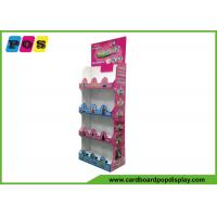 Floor Standing Cardboard Shelving Displays , Cut Out Shape Retail Display Stands FL164