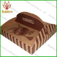 China Eco-friendly Paper Packaging Boxes Customizable With Handle For Pizza on sale