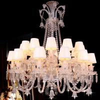 China Silver Candle Crystal Chandelier Light With Lampshade (WH-CY-60) on sale