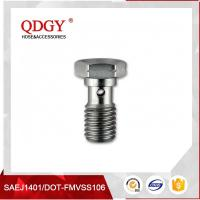 Quality STAINLESS STEEL MATERIAL BRAKE HOSE FITTINGS  SINGLE BANJO BOLT M10 X 1.5 wholesale