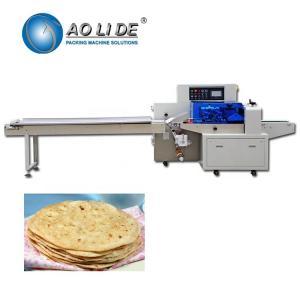 China Automatic high speed flow food Arabic Lavash flat bread pita chapati flowpack packing machine on sale