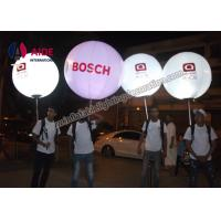 Quality Moving Inflatable Event Decoration Backpack Ball / Walk Balloon With Rgb Led Light wholesale