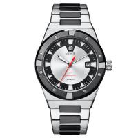 Quality Silver Automatic Mens Wrist Watches , Stainless Steel Waterproof Automatic Watch wholesale