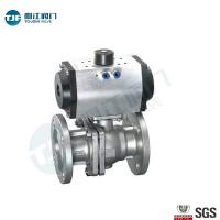 Quality JIS B2001 20K   Flanged Connection  Ball Valve for Petrol Chemical Valve with Penumatic Actuator wholesale