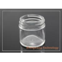 Quality 25ml clear screw neck glass jar for cosmetics packaging , D43mm×H43mm wholesale