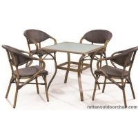 China LJC027-TX coffee shop Leisure outdoor furniture set rattan chair and table on sale