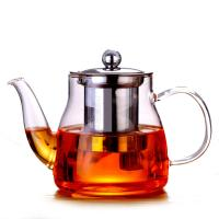 China 600ml Removable Infuser Clear Glass Teapot Ligjtweight Stovetop Safe Tea Kettle on sale