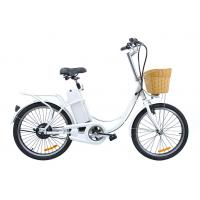 China Cute 9Ah 22'' city electric hub motor bicycle 250 Watt e bike for women on sale