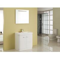 Quality Free Standing White Flush Color Square Sinks Bathroom Vanities ISO2000 Standard wholesale