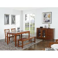 Cheap Nanmu solid wood Dining room furniture 1.35m flexible Round table and Chairs Tall wine cabinet with buffet for sale