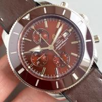 Buy cheap Wholesale Breitling Super Ocean Chronograph 46mm 60 YEARS OF ADVENTURE AND DISCOVERY Ceramic Bezel Rubber Leather Watch from wholesalers