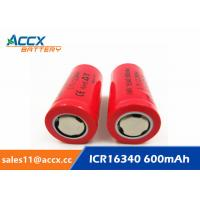 Cheap 16340HP 600mAh 16340 3.7V li-ion battery 10-20C high rate power battery for for sale