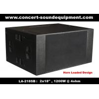 "Quality Line Array Speaker / 2x18"" Horn Loaded 4ohm 1200W Subwoofer For Concert , Living Event And Show wholesale"