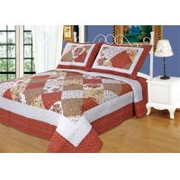 Quality Imitated Patchwork Cotton Quilted Bedspread Machine Wash Cold Delicate wholesale