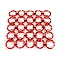 Quality 1.5 x15mm Brass Color Metal Chainmail Ring Mesh Drapery For Window Screen wholesale