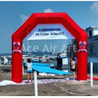 Quality cheap free standing  4.5mW X4.5m H  custom red  inflatable bow for spain come with air blower wholesale