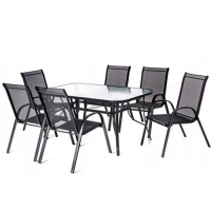 Quality Length 68cm Width 56cm  6 Seater Garden Table Aluminium Frame wholesale