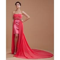 Quality Beautiful Short Evening Party Dresses / Prom Dresses with long trains wholesale
