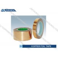 China Red double sided copper tape / conductive copper self adhesive tape on sale