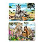 Quality Decorative Animal PET 3D Lenticular Plastic Table Mats Offset Printing wholesale