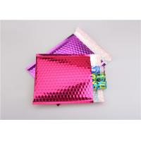 Quality Pink Metallic Bubble Mailers / Bubble Wrap Envelopes For Electronic Products wholesale