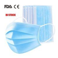 Quality Latex Free 3 Ply Disposable Face Mask , Non Woven Fabric Mask CE FDA Certificated wholesale