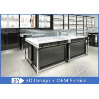 Quality OEM Glossy Black Stainless Steel Showcase Display For Jewelry wholesale