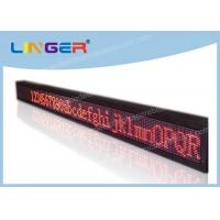 Quality Super Brightness LED Scrolling Message Sign Easy Maintenance 17222dots/Sqm wholesale