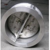 Quality API 594 Cast Steel Wafer Check Valves , Class 150 Double Disc Butterfly Check Valve wholesale