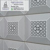 Quality SUDALU 3mm PVDF Laser Cutting Perforated Aluminium Panel for Outdoor Facade Cladding wholesale