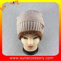 Quality AK17018 Sun Accessory advertising  winter knitted beanie hats for mens,Logo can be added wholesale