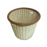 Quality Handweaved Hotel Beige PP Rattan Laundry Basket  For Towel and dirty clothes wholesale