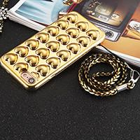 Quality Plating TPU 3D Love Heart Cell Phone Case Back Cover for iPhone 7 7 plus 6 6s 6 Plus 6s Plus with Lanyard wholesale