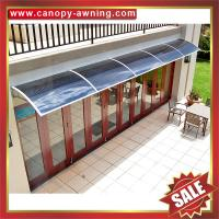Quality excellent house villa door window aluminum DIY PC polycarbonate Awning canopy cover shelter with cast aluminium bracket wholesale