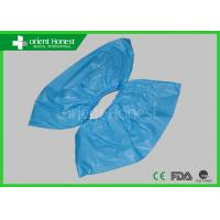 Quality CPE Waterproof Blue Disposable Shoe Cover For Daily And Medical Use wholesale