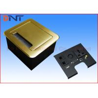 China Gold Tabletop Flip Up Power Outlet , Compact Manual Conference Table Power Outlets on sale