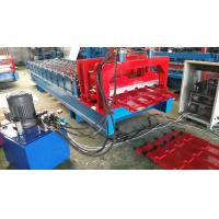 China Chain Drive Type Glazed Tile Roll Forming Machine 8-10m / Min Working Speed on sale