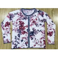 Quality Reactive Flowers Print Womens Knit Cardigan Sweater Manufacturer In China OEM Service wholesale