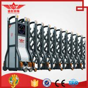 Quality Auto extending gate electric retractable sliding doors with remote control L1520 wholesale