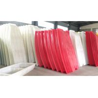 Quality Red White Color Rotational Moulding Products / Plastic Fishing Boats wholesale
