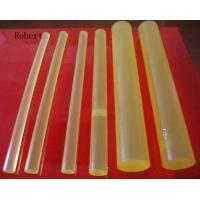 Quality Solvent Resistance Polyurethane Rubber Rod Bar Natural Color Hardness 60A - 95A wholesale