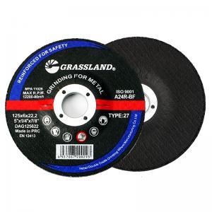 Quality Abrasive 125 X 6.0 X 22.23mm Burr Free Metal Grinding Discs wholesale